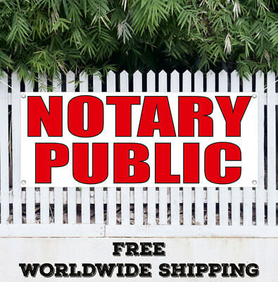 Banner Vinyl Notary Public Advertising Sign Flag Many Sizes