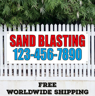 Banner Vinyl Sand Blasting Advertising Flag Sign With Your Custom Phone Number