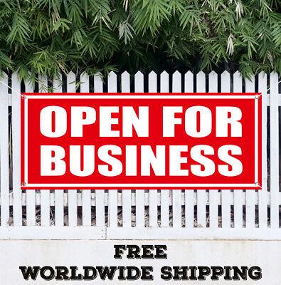 Banner Vinyl Open For Business Advertising Sign Flag Grand Opening Open House