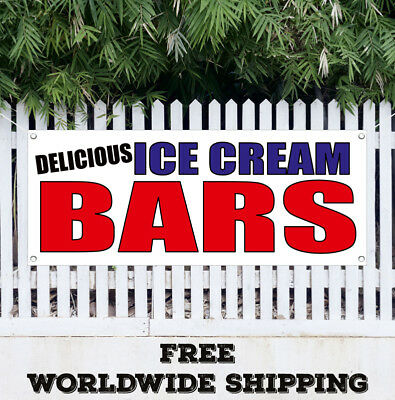 Delicious Ice Cream Bars Banner Vinyl Advertising Sign Flag Many Sizes
