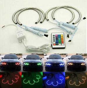BMW E46 RGB 4*131MM Multi-Color 5050 Flash LED SMD 12V ANGEL EYES HALO RING kit