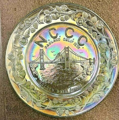 1978 NCCC Golden Gate Bridge Plate ICE GREEN IRID. Plate by Wetzel