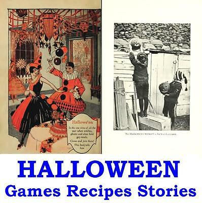 Halloween Vintage Books on Disc Ghost Stories Fun Games Recipes Haunted Houses - Vintage Halloween Recipes