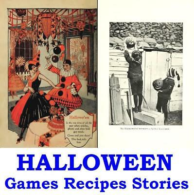 Halloween Vintage eBooks on Disc Ghost Stories Fun Games Recipes Haunted Houses  - Vintage Halloween Recipes
