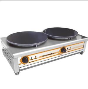 220V Double Crepe Maker and Pancake Machine 134119