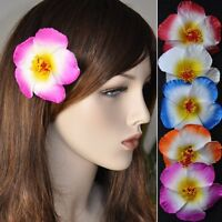 Fiore Ibisco Molletta Per Capelli 5 Colori Hawaii Pinza Accessorio -  - ebay.it
