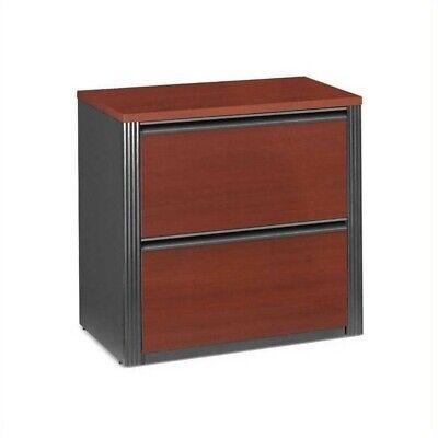 Bestar Prestige 2 Drawer Lateral Wood File Cabinet In Bordeaux