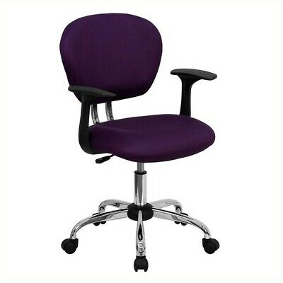 Flash Furniture Mid-back Mesh Task Office Chair With Arms In Purple