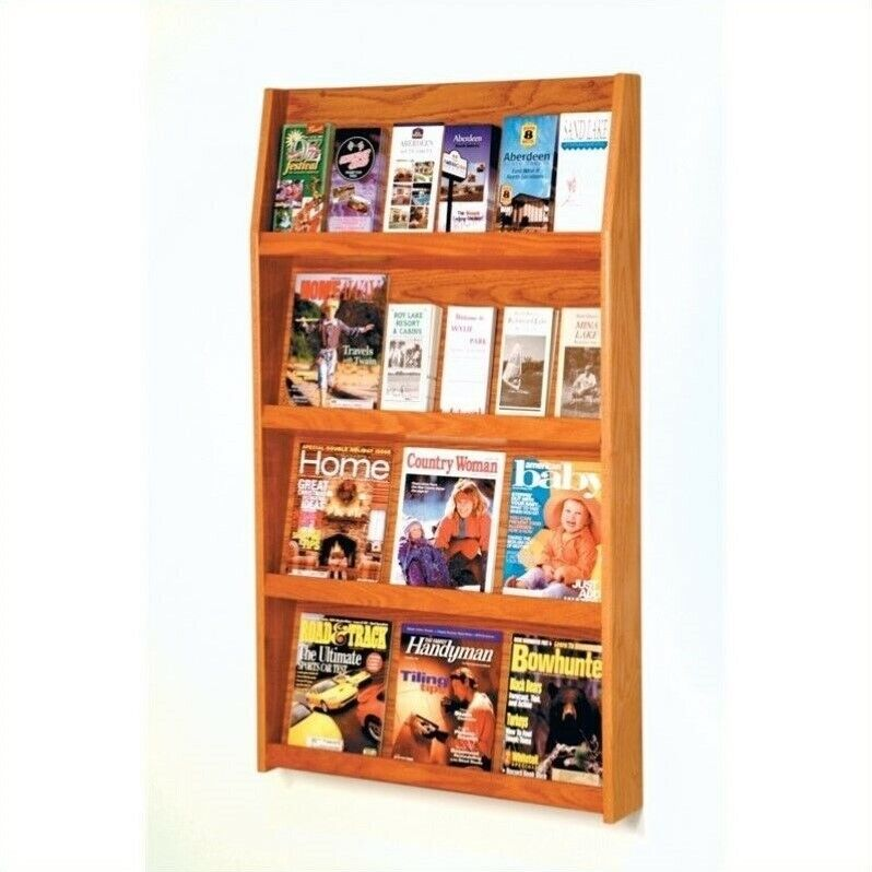 Pemberly Row Literature Holder in Medium Oak