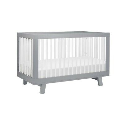 Hudson Convertible Crib - Finish: Gray/White