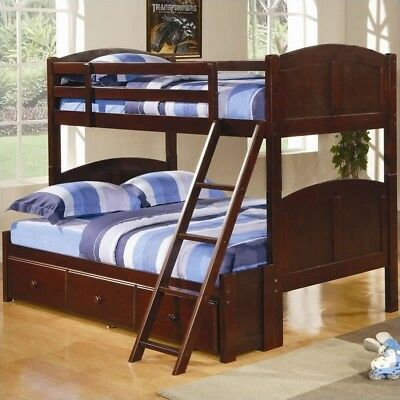 Coaster Parker Twin over Full Bunk Bed in Chesnut Finish