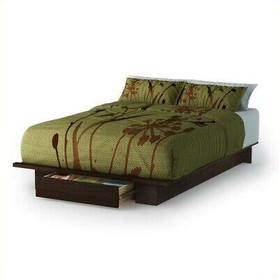 Holland Full/Queen Size Storage Platform Bed - Finish: Mocha