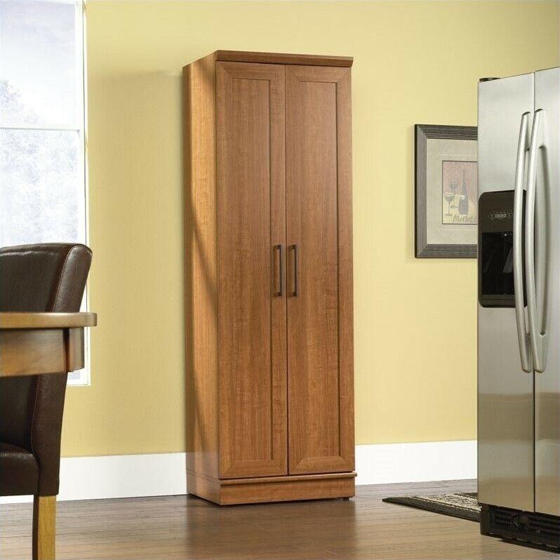 Sauder Homeplus Storage Cabinet in Sienna Oak Finish