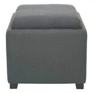 Awesome Safavieh Hudson Harrison Linen Single Tray Ottoman Ottomans And Storage Ottom Ncnpc Chair Design For Home Ncnpcorg