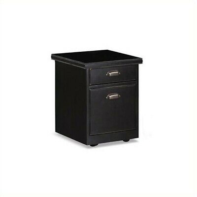 Beaumont Lane 2 Drawer Mobile Wood File Storage Cabinet In Black