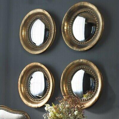 Beaumont Lane Round Wood Mirror in Oxidized Copper