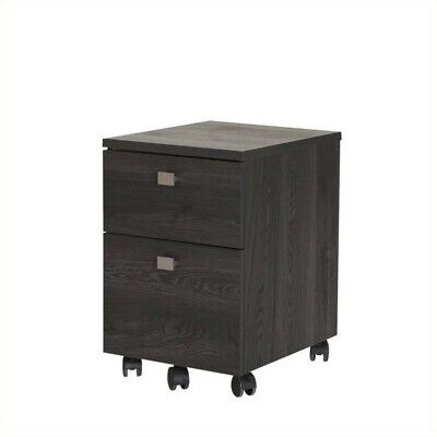 South Shore Interface 2 Drawer Mobile Filing Cabinet In Gray Oak
