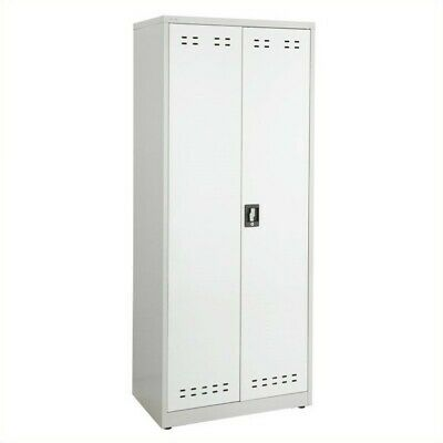 "Pemberly Row 72""H Steel Storage Cabinet in Gray"