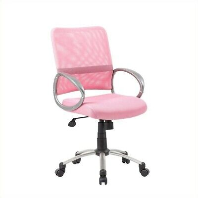 Boss Office Products Mesh Back with Pewter Task Office Chair in Pink (Boss Task Office Chair)