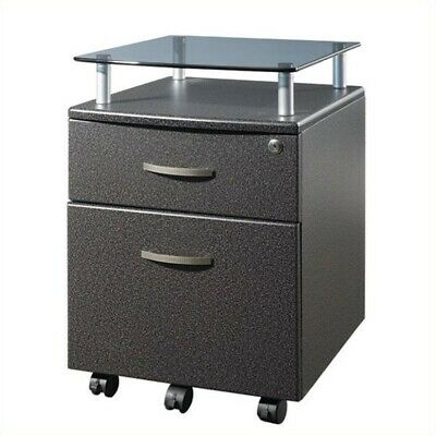 Techni Mobili Seguro 2 Drawer Wood Mobile Filing Cabinet In Graphite