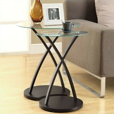 Monarch Bentwood Nesting Table in Cappuccino (Set of 2) Cappuccino Nesting Table