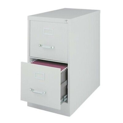 Scranton & Co 2 Drawer Letter File Cabinet in Gray