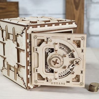 The SAFE Original - UGEARS 3D Mechanical Wooden Model for self-assembly