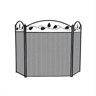 - Pemberly Row 3 Fold Black Top Leaf Screen