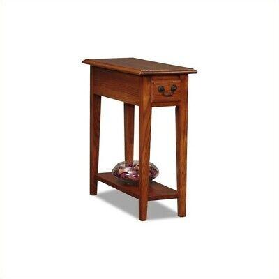 Leick Furniture Chairside End Table in Medium Oak Finish Bedroom Oak End Table