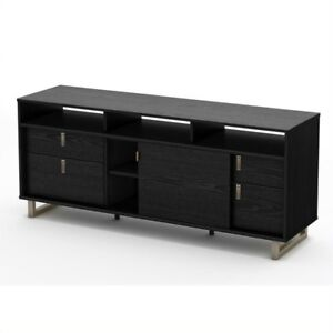 South Shore Furniture Black Oak Uber Tv Stand 4347678 Ebay
