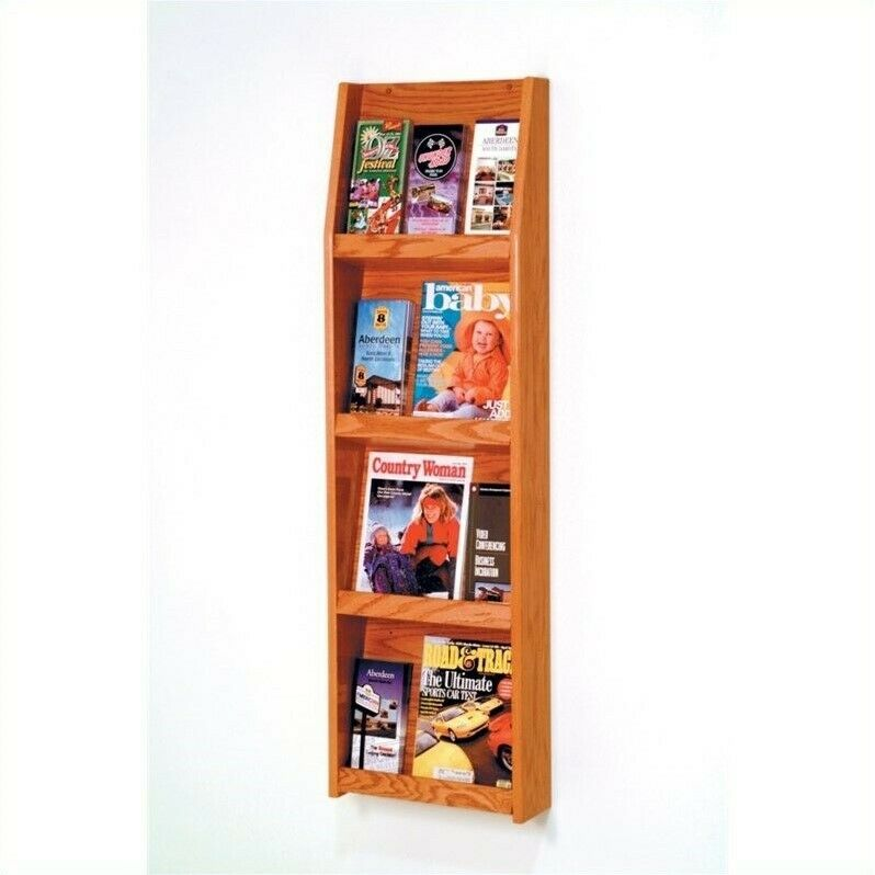 Wooden Mallet Medium Oak Literature Display in 12 Pocket