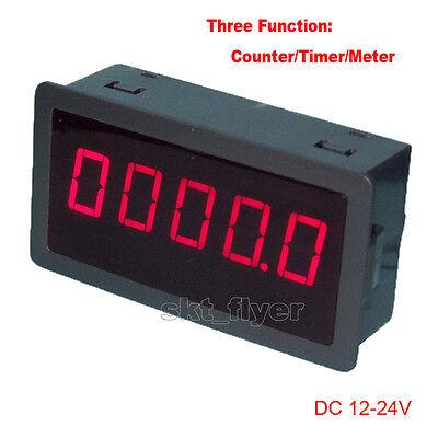 0.56 Red Led Digital Counter Meter Timer Timing Dc12-24v Car Motor Test Auto