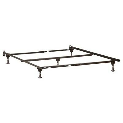 Atlantic Furniture Adjustable Metal Bed Frame with Glides
