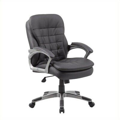 Boss Office Mid Back Executive Office Chair In Black And Pewter