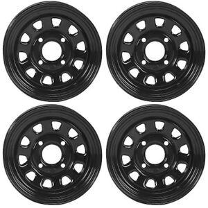 4 ATV/UTV Wheels Set 12in ITP Delta Steel Black 4/110 5+2 IRS