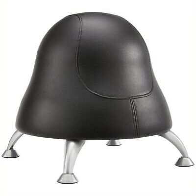 Pemberly Row Ball Office Chair In Black Vinyl