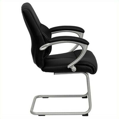 Scranton Co Executive Side Office Guest Chair With Black Leather