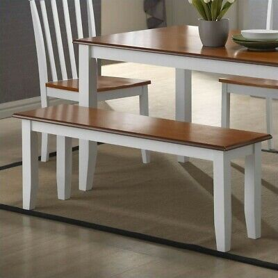 Bloomington Wooden Kitchen Bench - Finish: White / Honey Oak