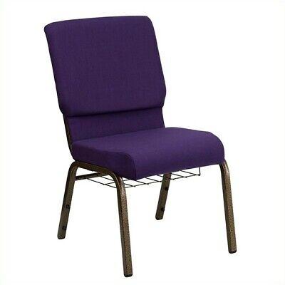 Flash Furniture Hercules Church Guest Chair in Royal Purple