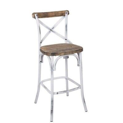 ACME Zaire Bar Stool in Walnut and Antique White