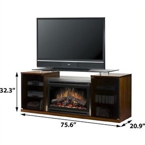 Mariana dimplex fireplace brown