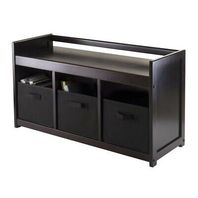 4pc storage bench with 3 baskets in