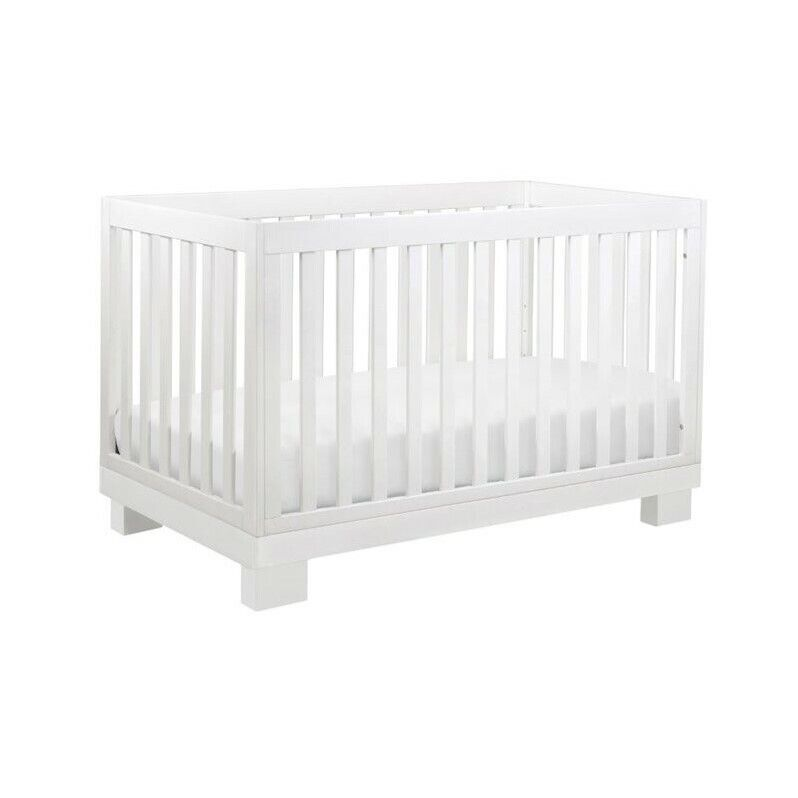 Babyletto Modo 3-in-1 Convertible Crib with Toddler Bed Conversion Kit in White