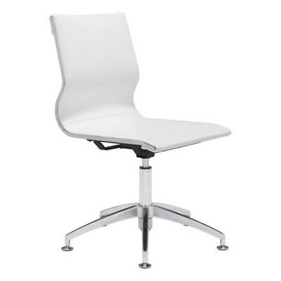 Zuo Glider Conference Chair In White