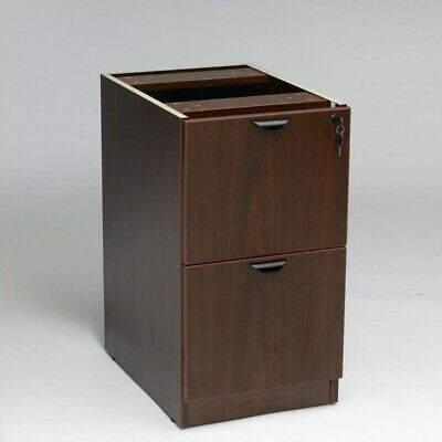Boss Office Products 2 Drawer Vertical Wood File Cabinet In Mahogany