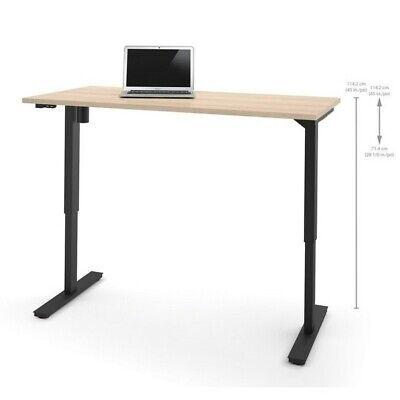 Bestar 30 X 60 Power Adjustable Standing Desk In Northern Maple