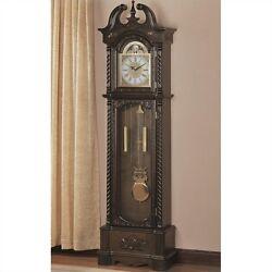 Coaster Grandfather Clock in Deep Brown