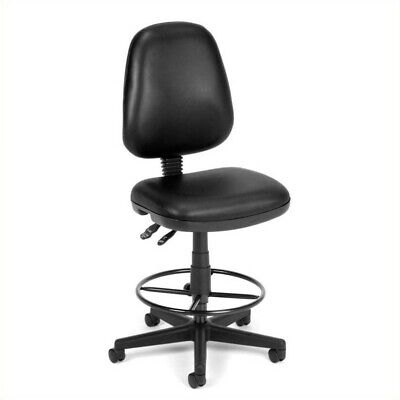 Ofm Straton Drafting Office Arm Chair In Black