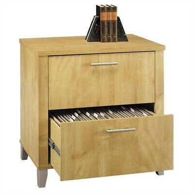 Bush Furniture Somerset Lateral File Cabinet In Maple Cross