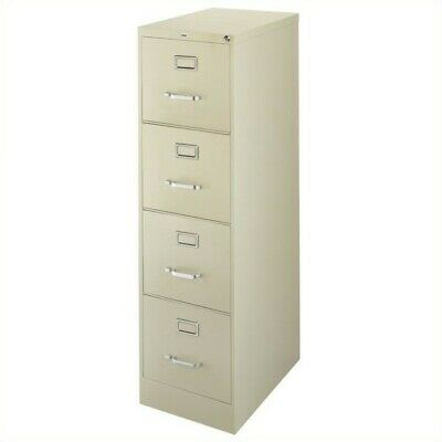 Hirsh 22 In Deep 4 Drawer Vertical Letter File Cabinet In Putty